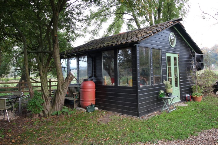 5m by 5m shed, double glazed and air conditioned courtesy of ebay