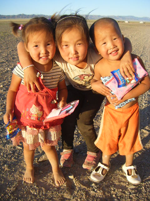 Three little stars in Mongolia