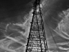 Pylon Stormy Clouds BW (Medium)