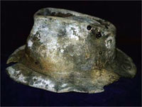 A hat that fossilised in less than 100 years.