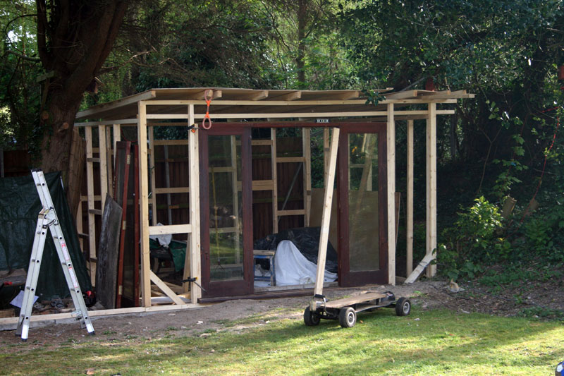 First the 'office' side which was going to be decorated and insulated properly.