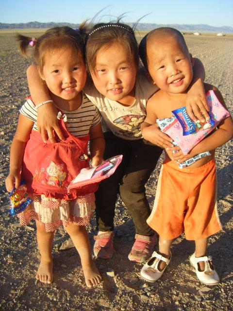 Three little stars in Mongolia
